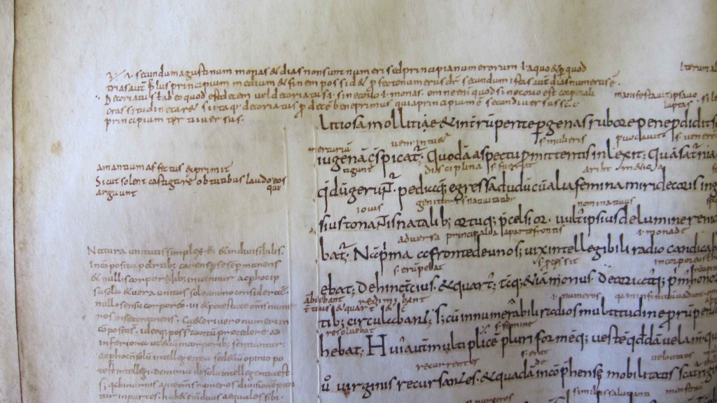 Annotation from the early middle ages.