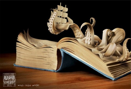 Book art by Kaspen for the Anagram Bookstore.