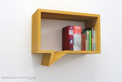 Annotation bookshelf by Lau Design.