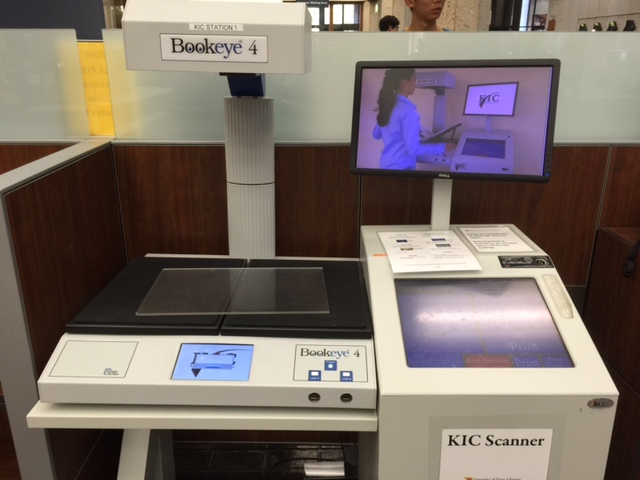 "This scanner at the UT-Austin Library allows you to select ""searchable PDF"" and email copies to yourself"