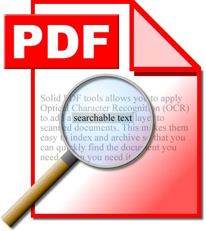 OCRed PDF