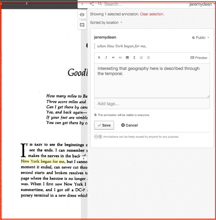Annotating the OCRed PDF
