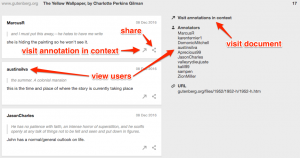 Screenshot of Hypothesis search detail view.