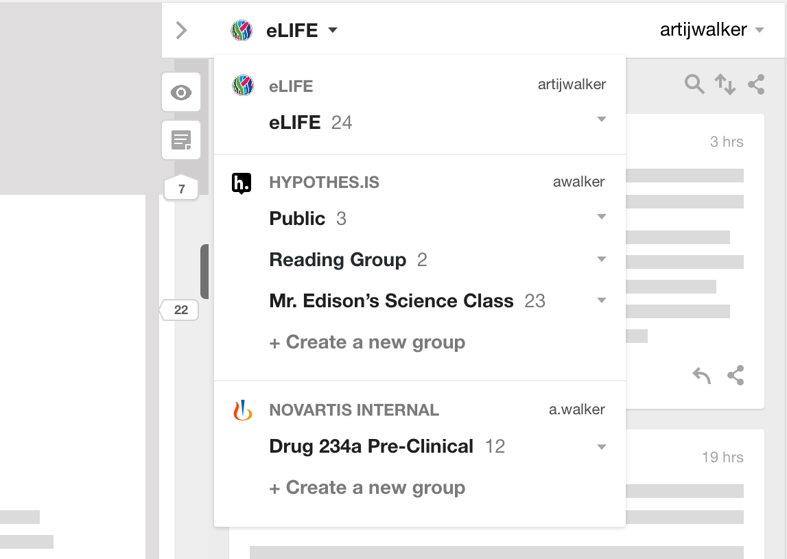 Screenshot of scientific journal showing annotation layer dedicated to publisher.
