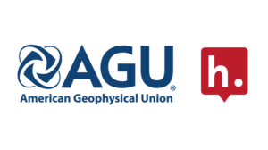 Logos for AGU and Hypothesis.