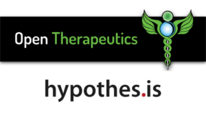 Logos for Open Therapeutics and Hypothesis.