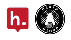 Logos for Hypothesis and OAuth.