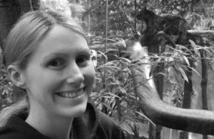 Black and white headshot of Hannah Stepanek.