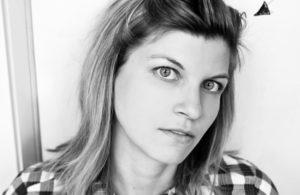 Black and white headshot of Lyza Danger Gardner.
