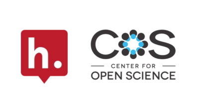 Logos for Hypothesis and The Center for Open Science.