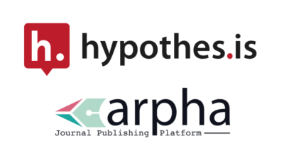 Logos for Hypothesis and Pensoft ARPHA.