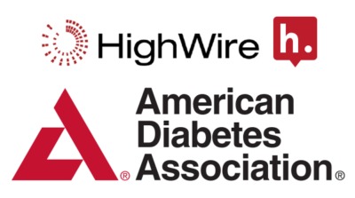 Logos for HighWire, Hypothesis and the American Diabetes Association.
