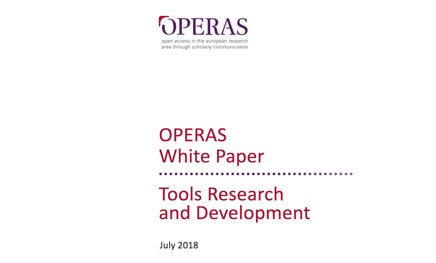 Screenshot of OPERAS white paper.