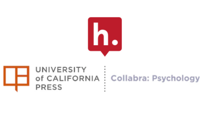 Logos for University California Press and Collabra: Psychology.