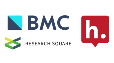 Logos for BMC, Research Square & Hypothesis