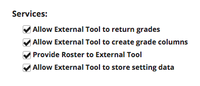 alternate sakai tool settings