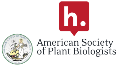 The Hypothesis logo stacked on top of the American Society of Plant Biologists logo.