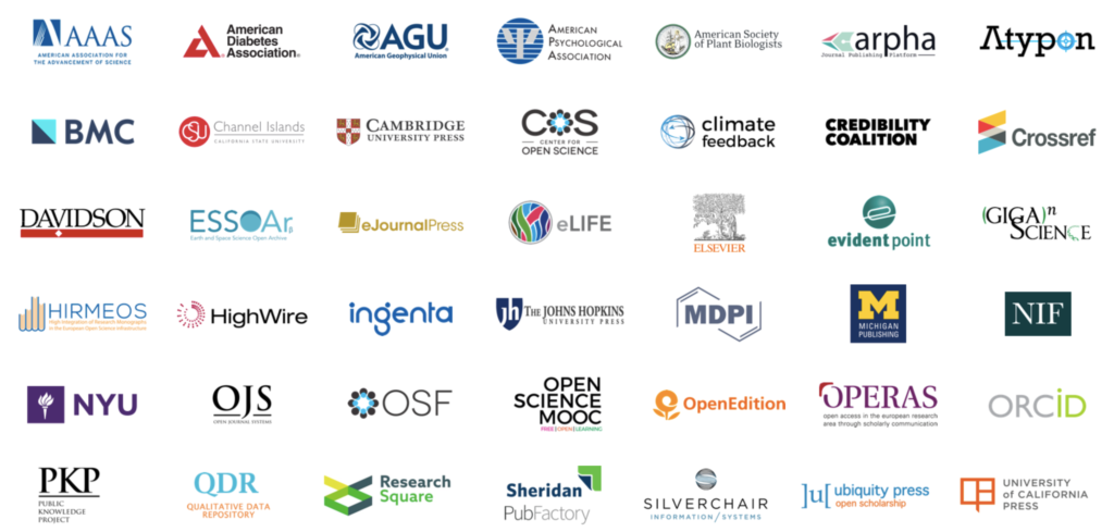 Logos for 42 Hypothesis partners.