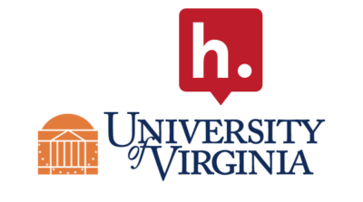 The Hypothesis logo sitting on top of the logo for the the University of Virginia.