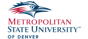 Logo and wordmark for Metropolitan State University of Denver.