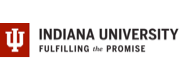 Logo, wordmark and tagline for Indiana University.