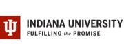 Logo, wordmark and tagline for Indiana University.