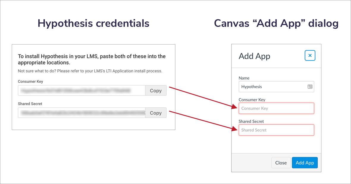 App Center - enter Hypothesis credentials