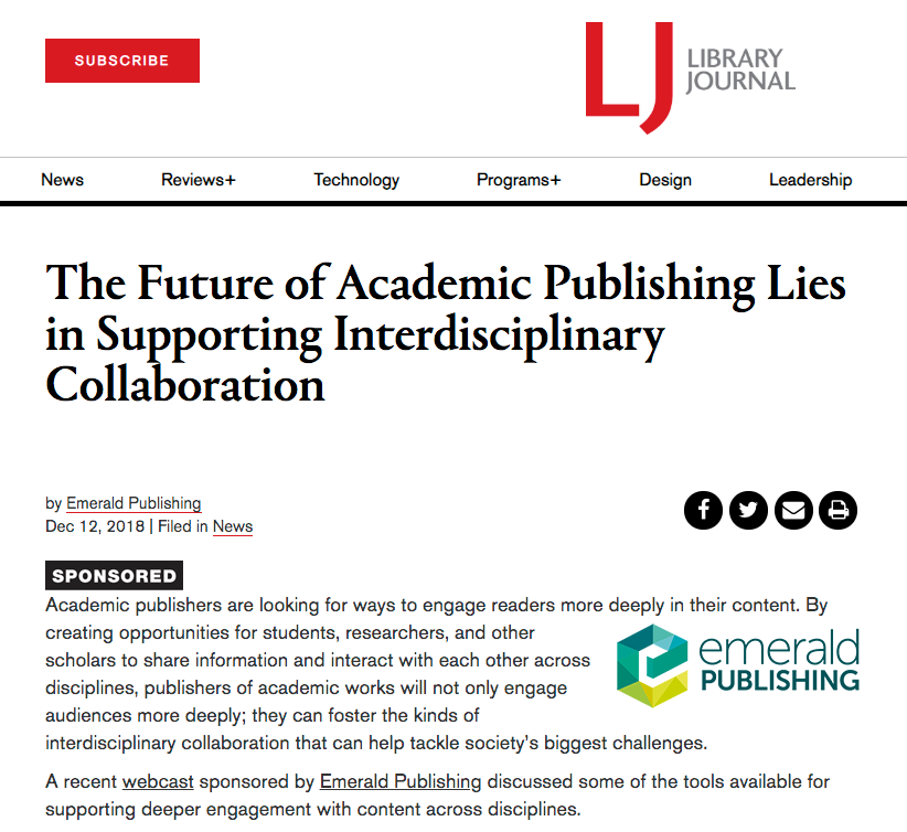 Screenshot of article