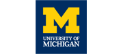 Logo and wordmark for University of Michigan.