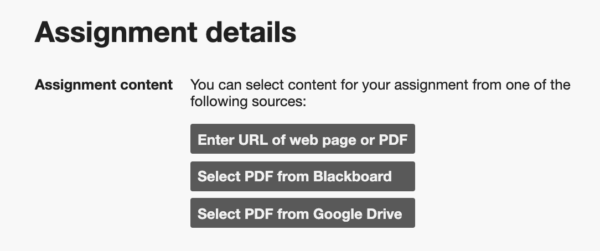 Blackboard select content sources
