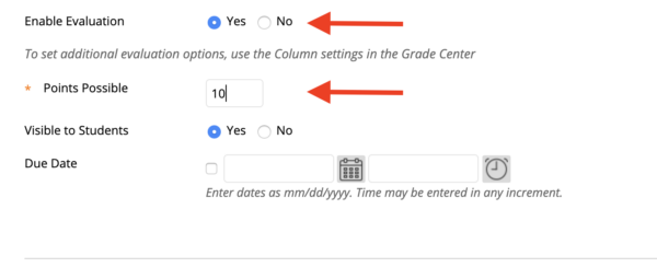 """Location of """"Enable Grading"""" and """"Points Possible"""""""