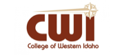 Maroon logo and wordmark for the College of Western Idaho.