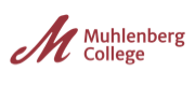 Maroon logo and wordmark for Muhlenberg College.