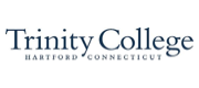 Blue wordmark for Trinity College.