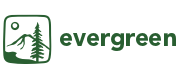Green logo and wordmark for The Evergreen State College.
