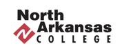 Black wordmark and red logo for North Arkansas College.