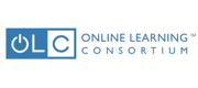 Blue horizontal logo and wordmark for the Online Learning Consortium (OLC).