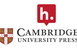 A red Hypothesis logo sitting on top of the Cambridge University Press coat of arms and wordmark.