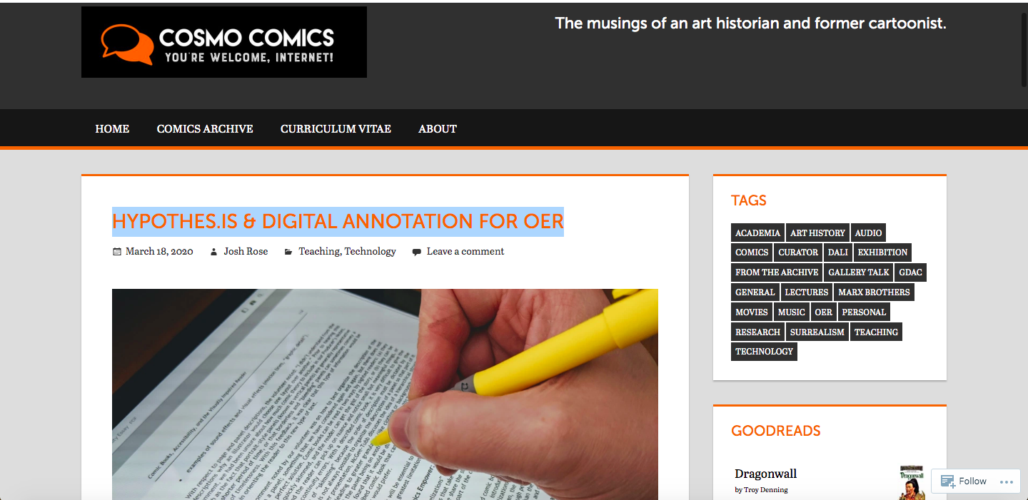 HYPOTHES.IS & DIGITAL ANNOTATION FOR OER