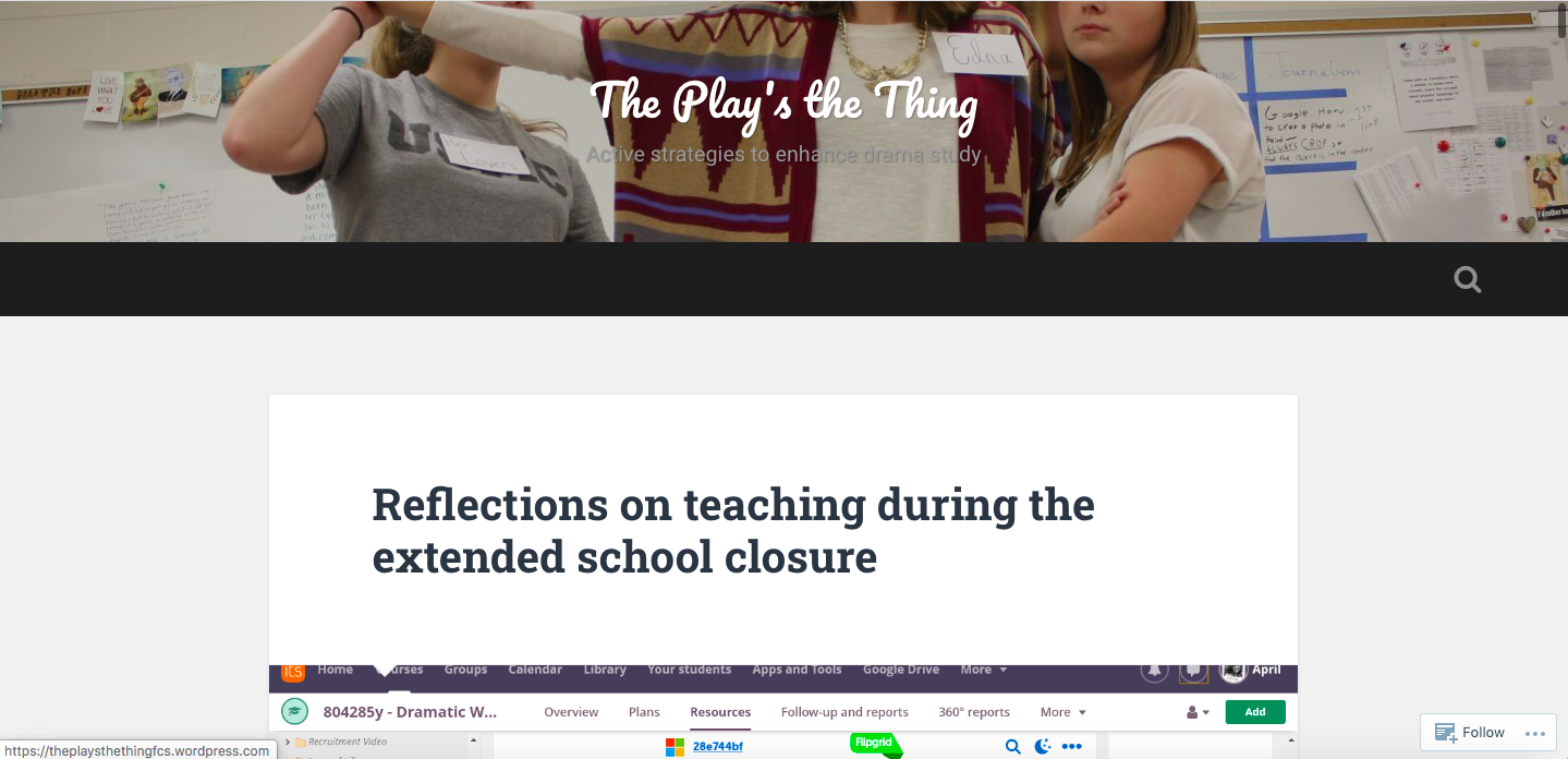 Reflections on teaching during the extended school closure