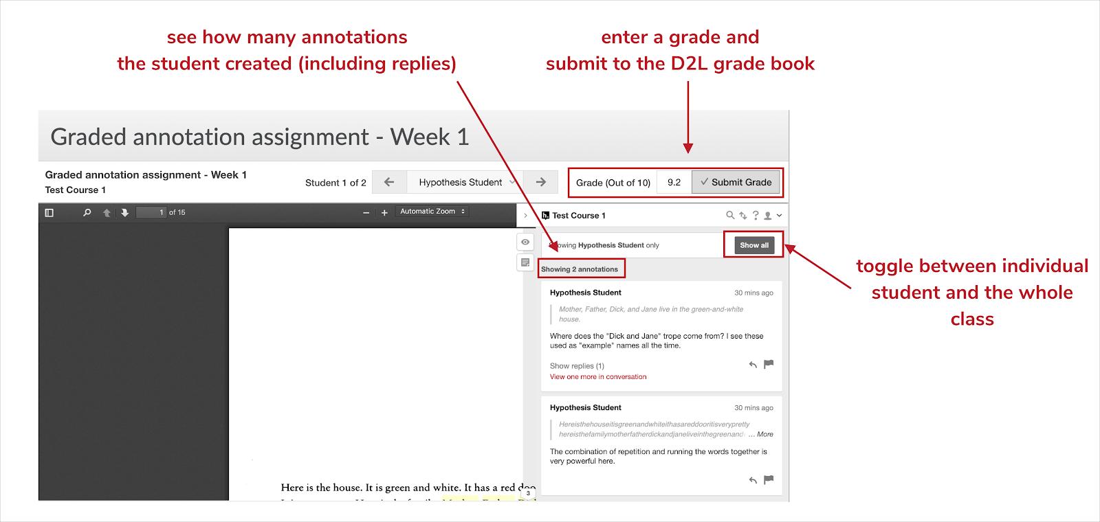 Components of grading bar