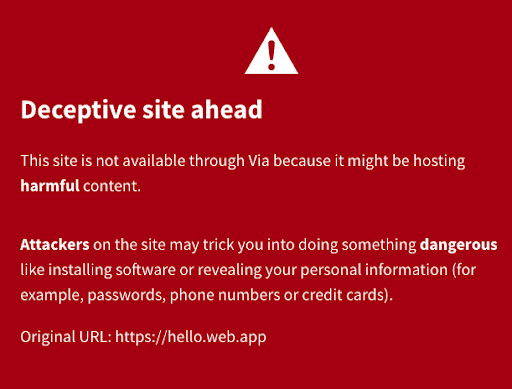 The text in this error message is already included on the webpage.
