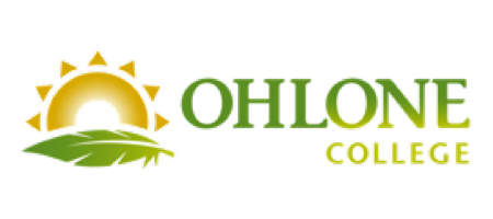 Ohlone College Logo green feather and sun illustration