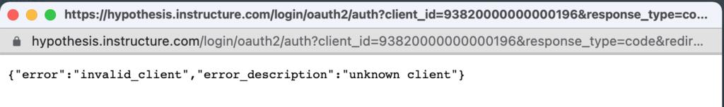 """Error """"invalid_client"""""""