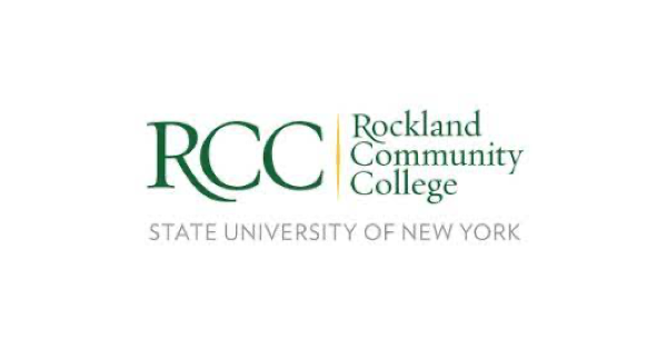 RCC logo green on white background with words RCC Rockland Community College State University of New York