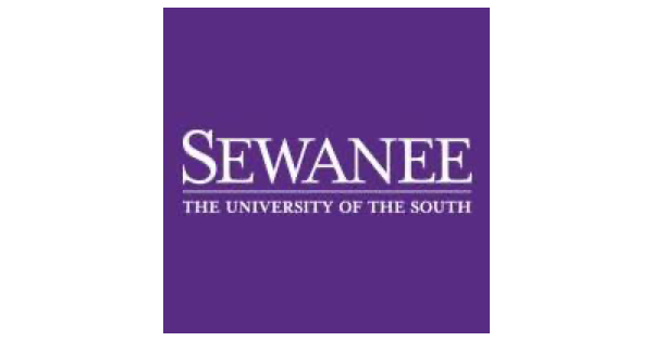 Sewanee The University of the South logo in white lettering on a deep purple background