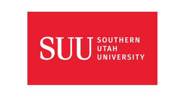 Southern Utah University logo with the words SUU and Southern Utah University in white lettering on a red background