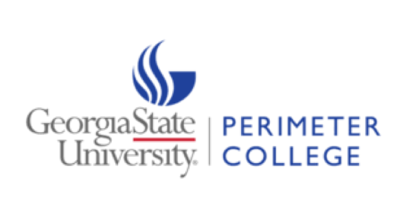 Georgia State University Perimeter College logo on white background with the university name and the college name separated by a vertical line