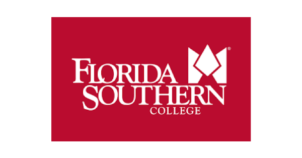 Florida Southern College logo with white lettering on bright red background