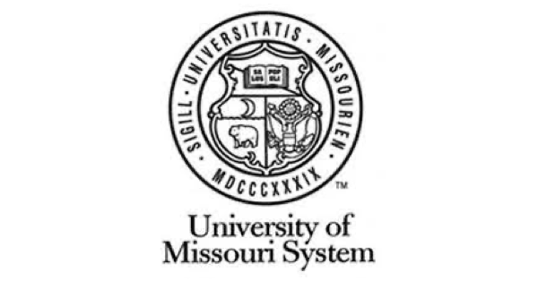 University of Missouri System logo with name in gray letters on a white background below the system's official seal